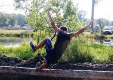 Ethan Rowe takes a tumble. Washington County Fair Saturday AM