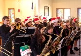 Otte Middle School Jazz Band performs for residents at Good Shepherd Community Center on Tuesday.