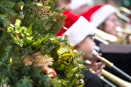 Otte Middle School Band performed at the Washington County Bank Tuesday.