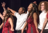 Omaha Northwest Show Choir performs on Saturday during the Blair Show Choir Workshop at BHS.