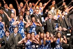 Blair Ovation Show Choir performs on Saturday during the Blair Show Choir Workshop at BHS.