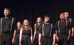 Waverly show choir performs on Saturday during the Blair Show Choir Workshop at BHS.