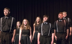 Waverly show choir performs on Saturday during the Blair Show Choir Workshop at BHS.